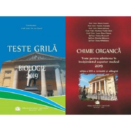 Set admitere UMF Carol Davila - Chimie+Biologie(ed.2019)