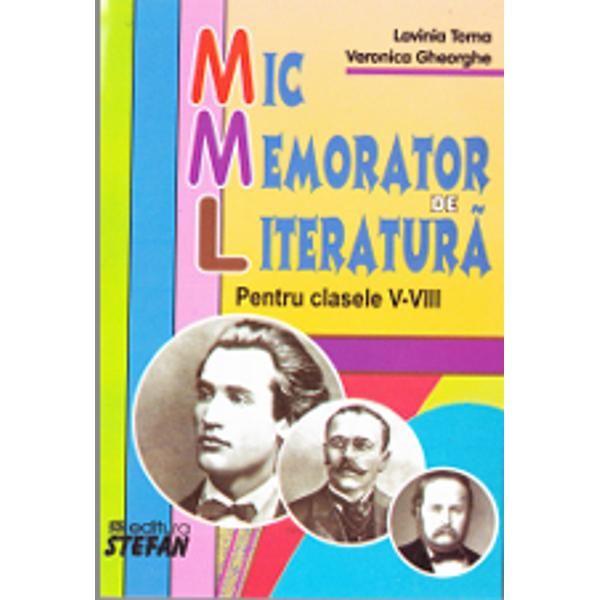 Mic memorator de Literatura pentru clasa V-VIII