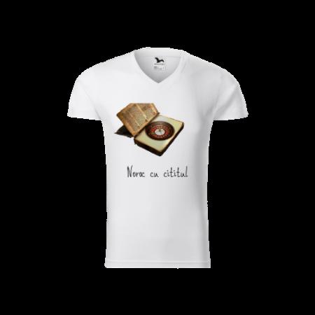 Tricou barbati - Model Noroc cu cititul